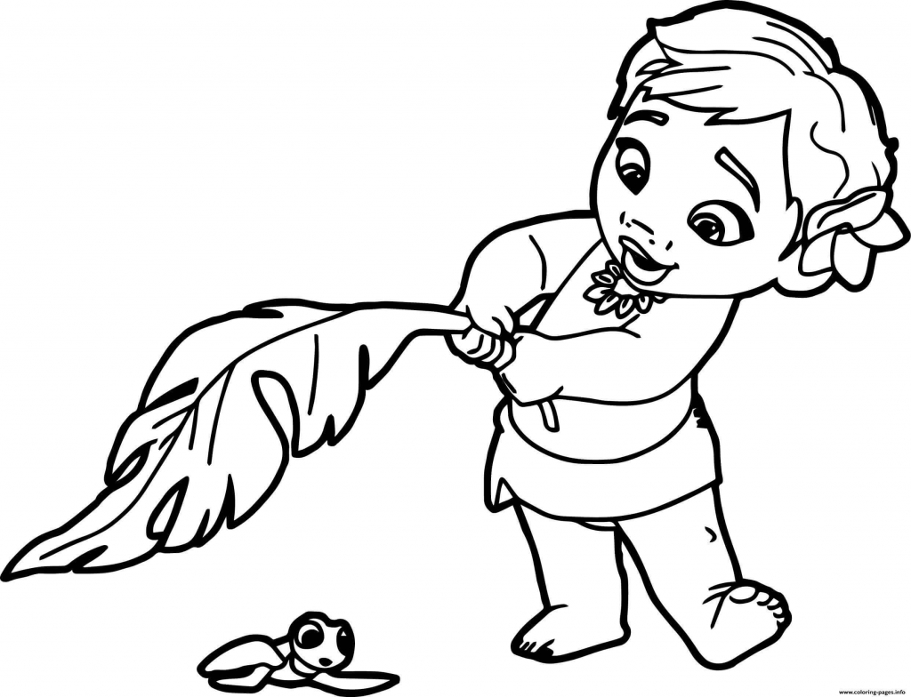 35 Printable Moana Coloring Pages