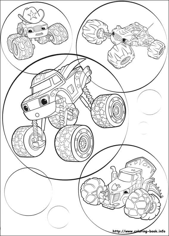 Crusher Of Blaze And The Monster Machines Coloring Pages
