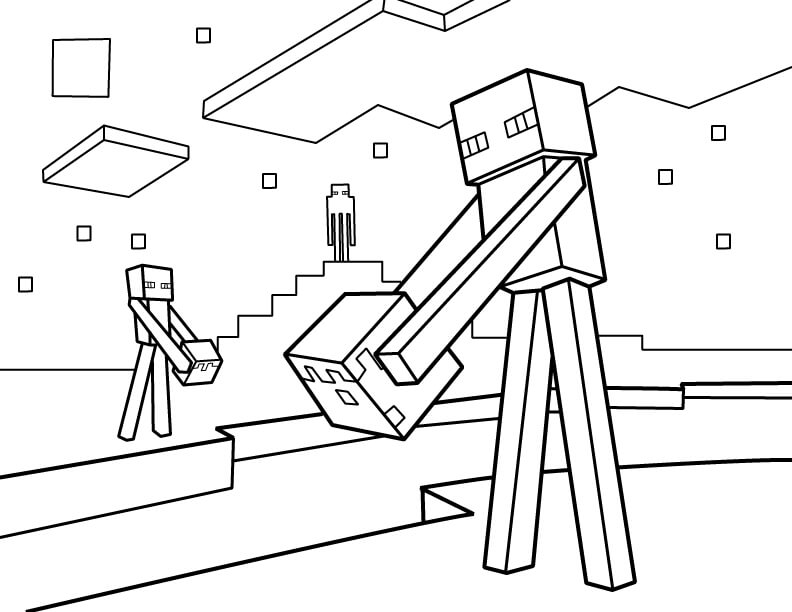 40 Printable Minecraft Coloring Pages