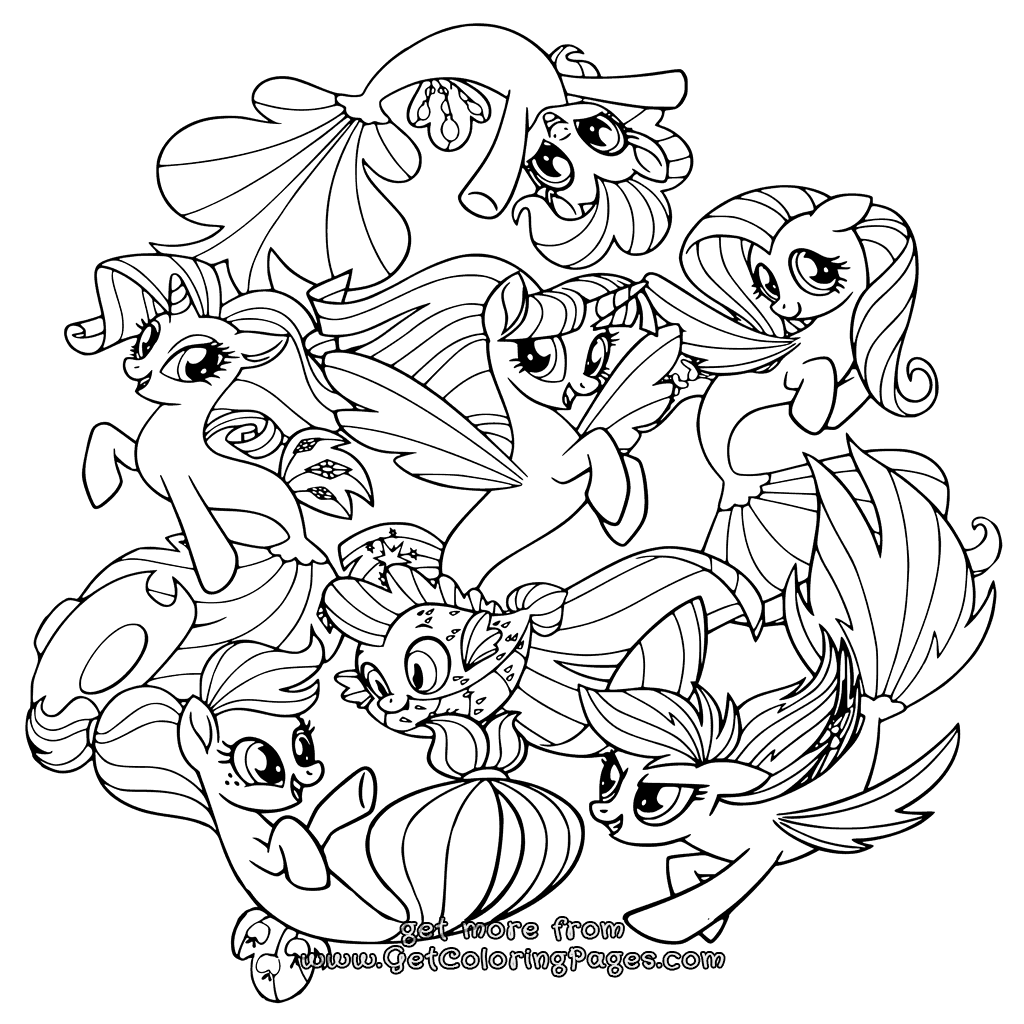 Printable My Little Pony The Movie Coloring Pages
