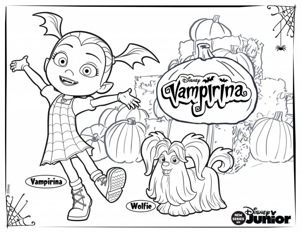 10 Printable Disney Vampirina Coloring Pages