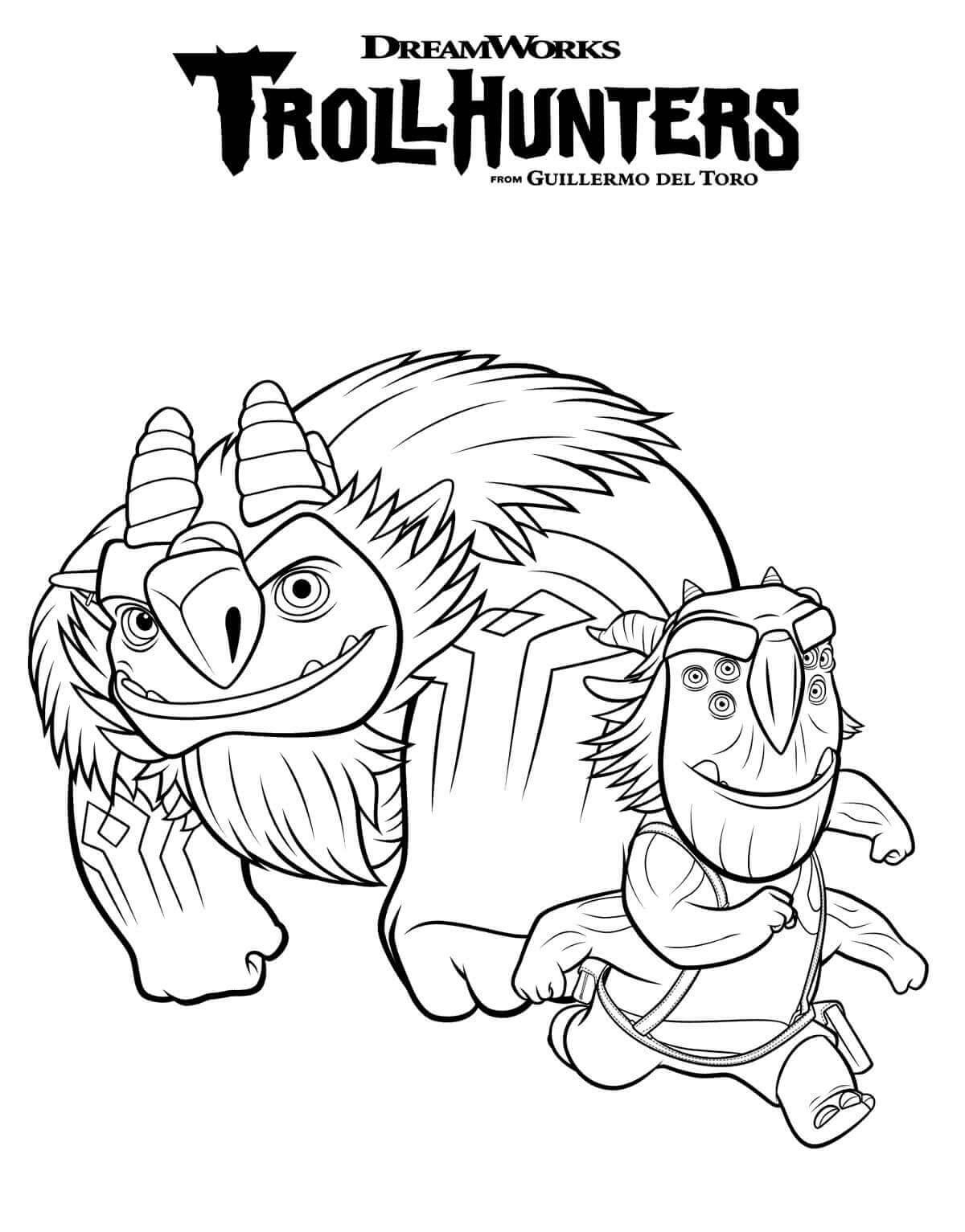 Blinky And Aaarrrgghh Trollhunters Coloring Page Scribblefun