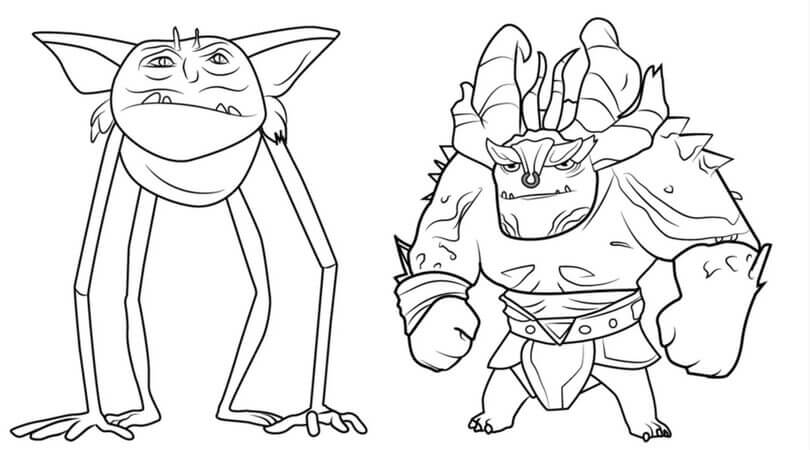 Printable DreamWorks Trollhunters Coloring Pages You Won't