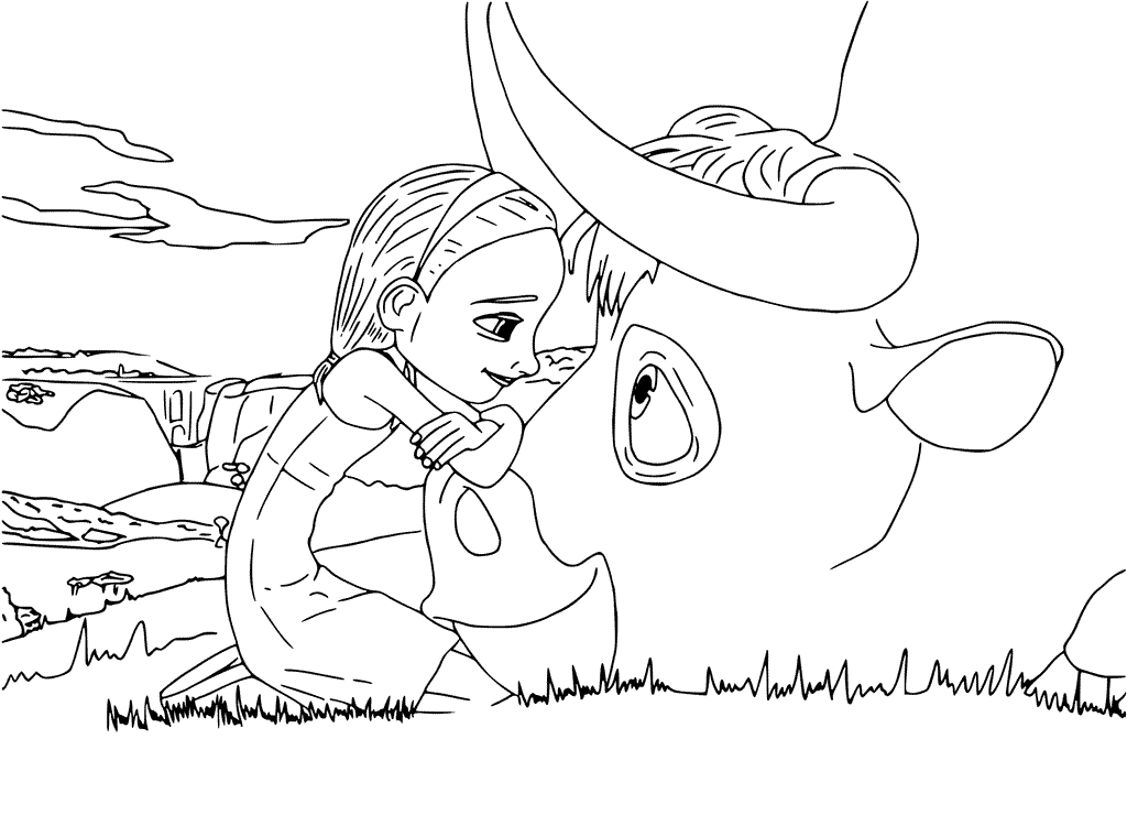 Printable Disney Ferdinand Coloring Pages