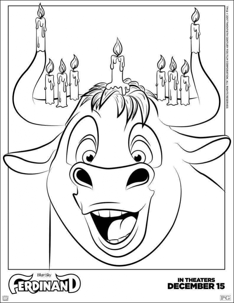Printable Disney Ferdinand Coloring Pages