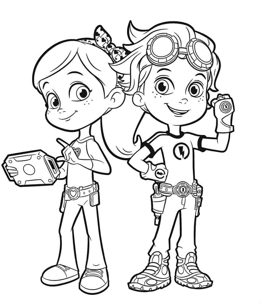 20 Printable Rusty Rivets Coloring Pages