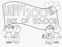 100th Day Of School Coloring Pictures Free Printable 100 Days