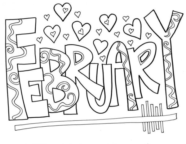 free printable february coloring