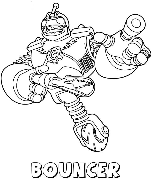 Bouncer from Skylanders Coloring Pages