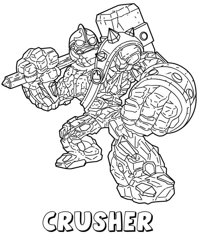 Crusher from Skylanders Coloring Pages