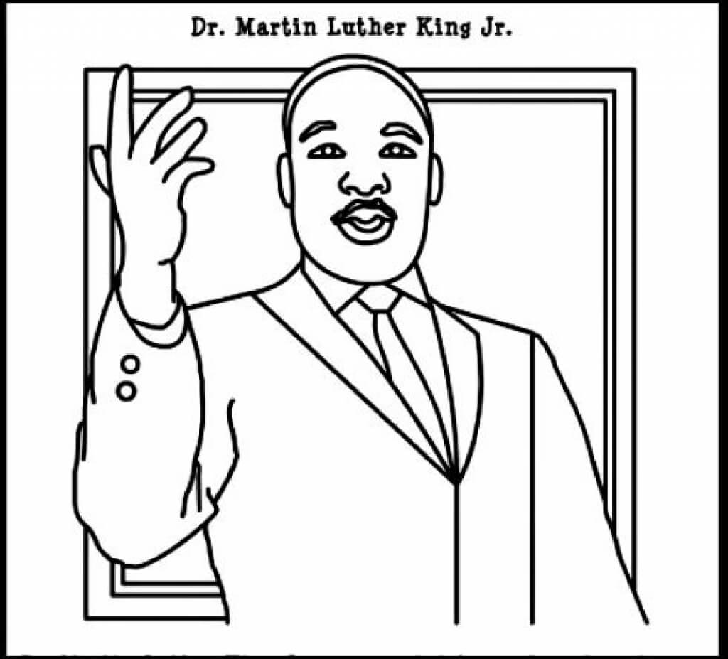 Free Printable Martin Luther King Jr Day Mlk Day Coloring Pages