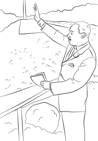 Martin Luther King Coloring Pages Free - Coloring Home | 287x200