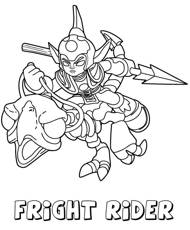 Fright Rider from Skylanders Coloring Pages