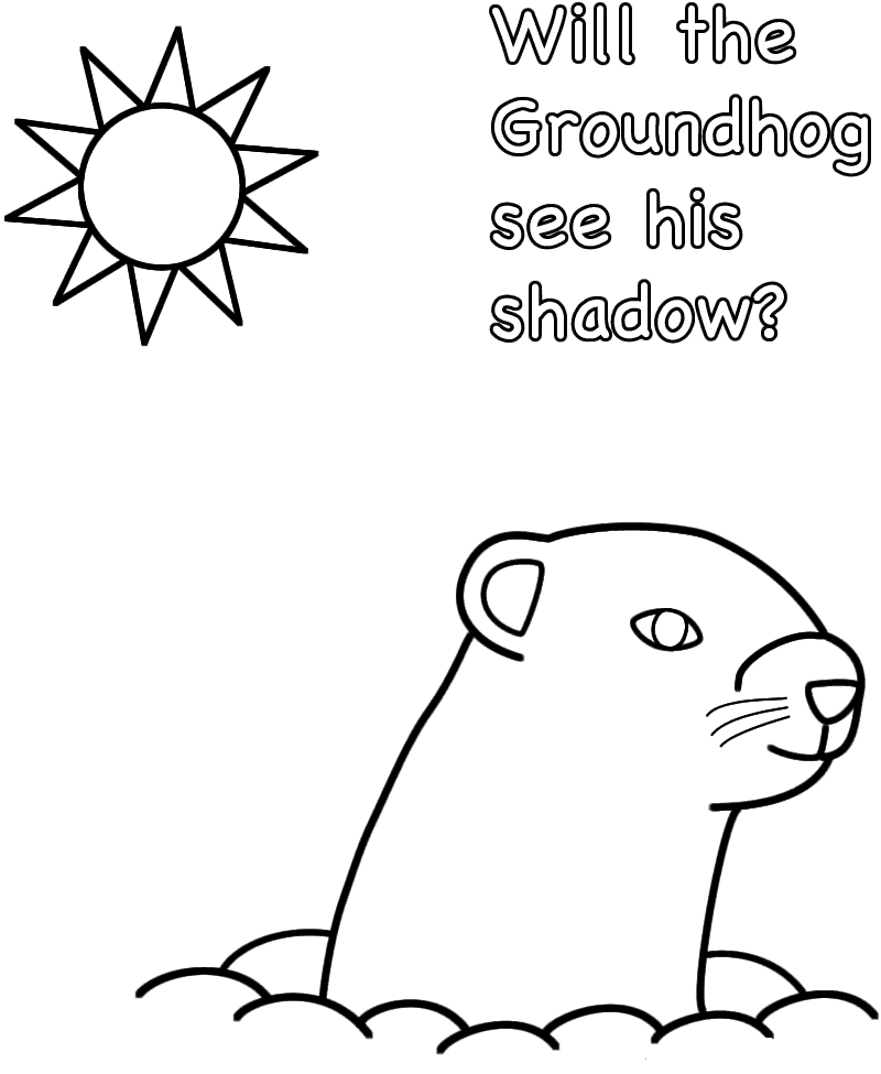 Free Printable Groundhog Day Coloring Pages