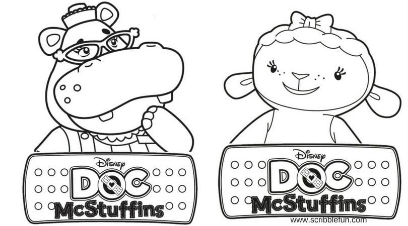 Hallie And Lambie Doc McStuffins Coloring Pages