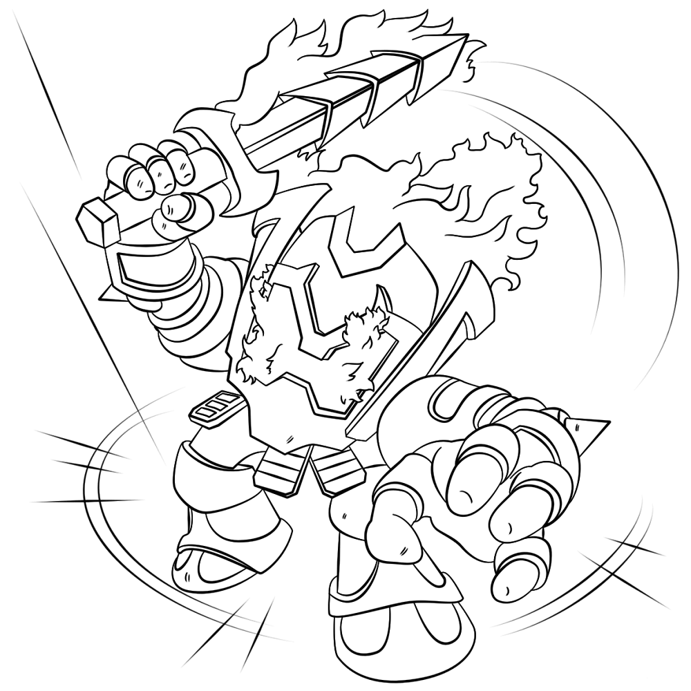 Ignitor Skylanders Coloring Pages