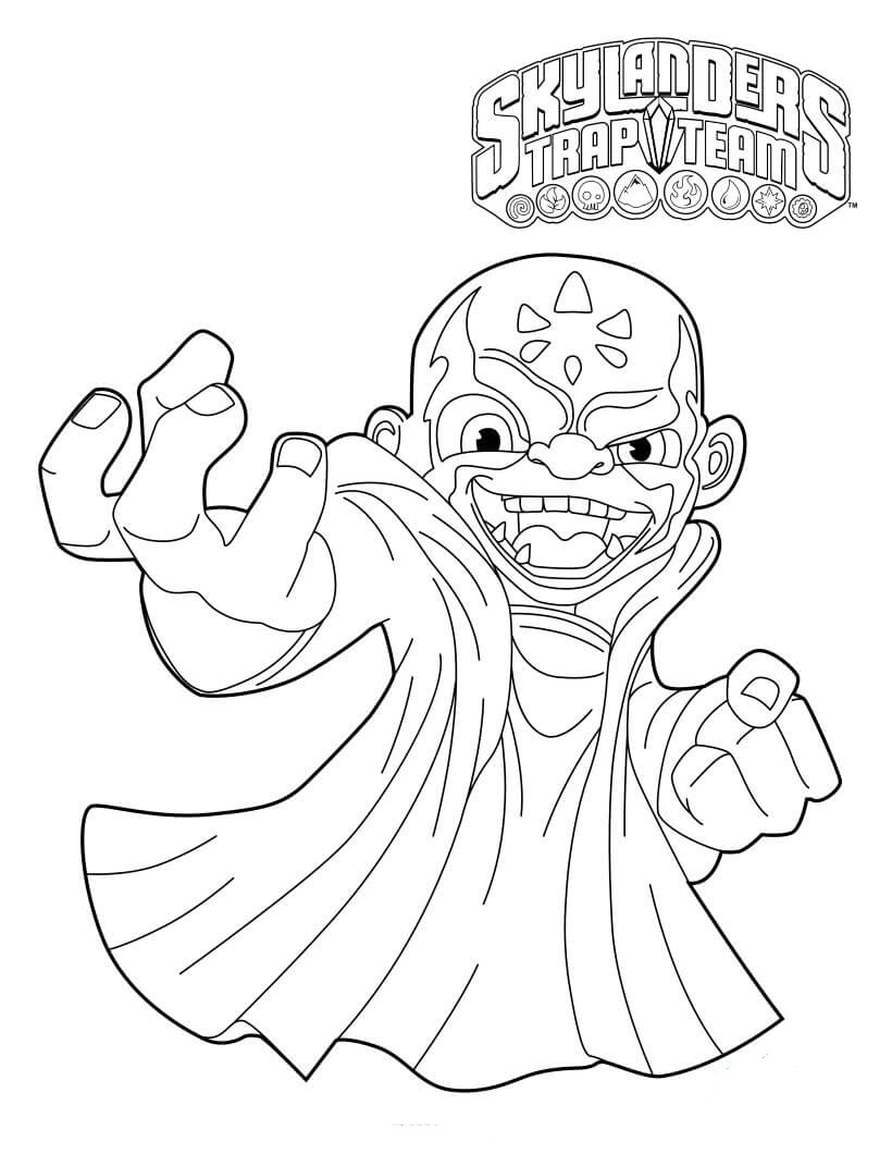 Kaos from Skylanders Coloring Pages