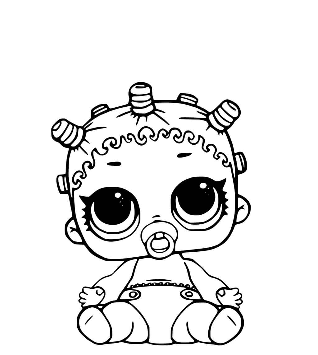 LOL Surprise Dolls Coloring Pages Lil Cosmic Queen