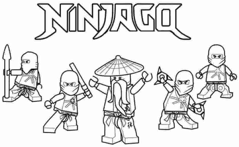 free printable lego ninjago coloring pages