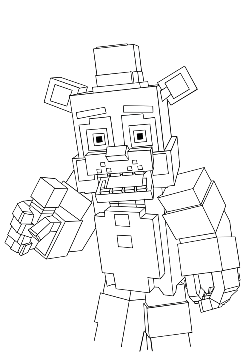 Free Printable Five Nights At Freddy's (FNAF) Coloring Pages
