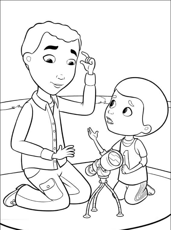 Mr McStuffins And Henry From Doc McStuffins Coloring Pages