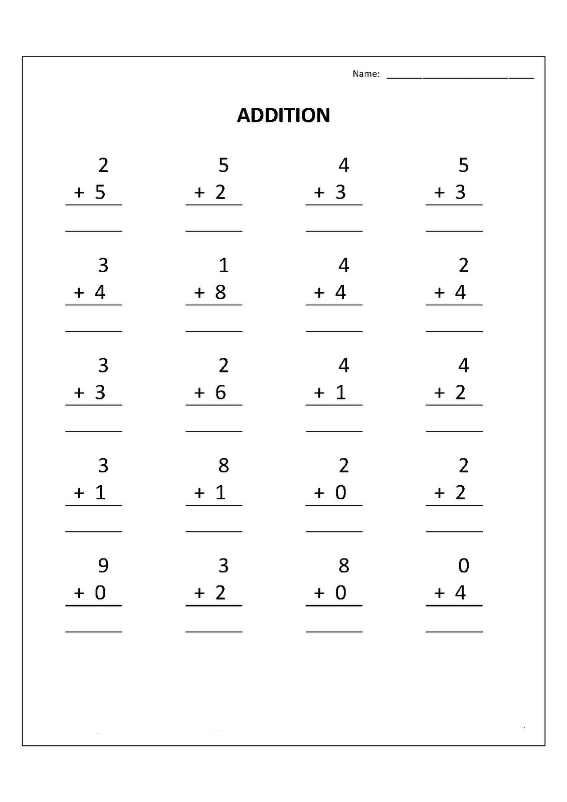 hight resolution of Free Printable Kindergarten Math Worksheets
