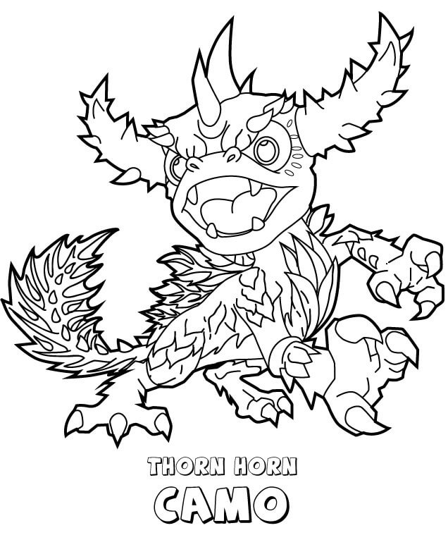 Thorn Horn Camo from Skylanders Coloring Pages
