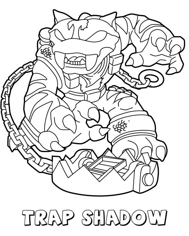 Trap Shadow from Skylanders Coloring Pages