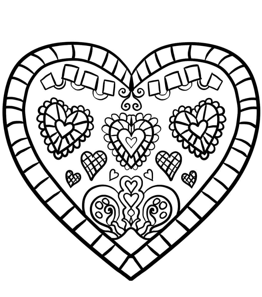 Coloring Book Heart
