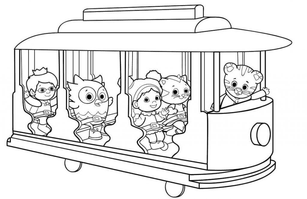 12 Free Printable Daniel Tiger's Neighborhood Coloring Pages