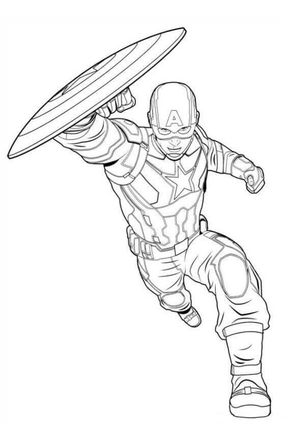 captain america shield coloring page # 57