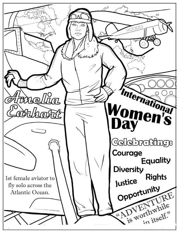 15 Free Printable International Women's Day Coloring Pages