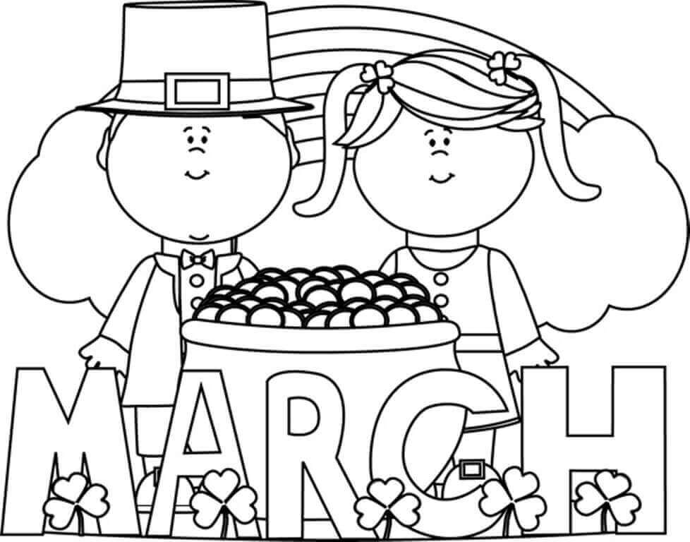 Free Printable March Coloring Pages