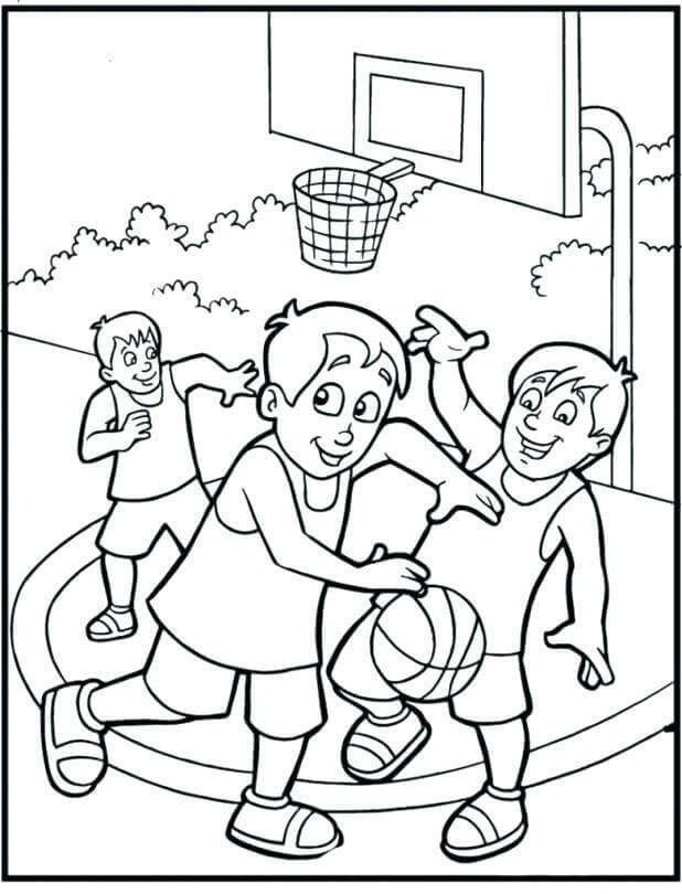Free Printable March Madness Coloring Pages