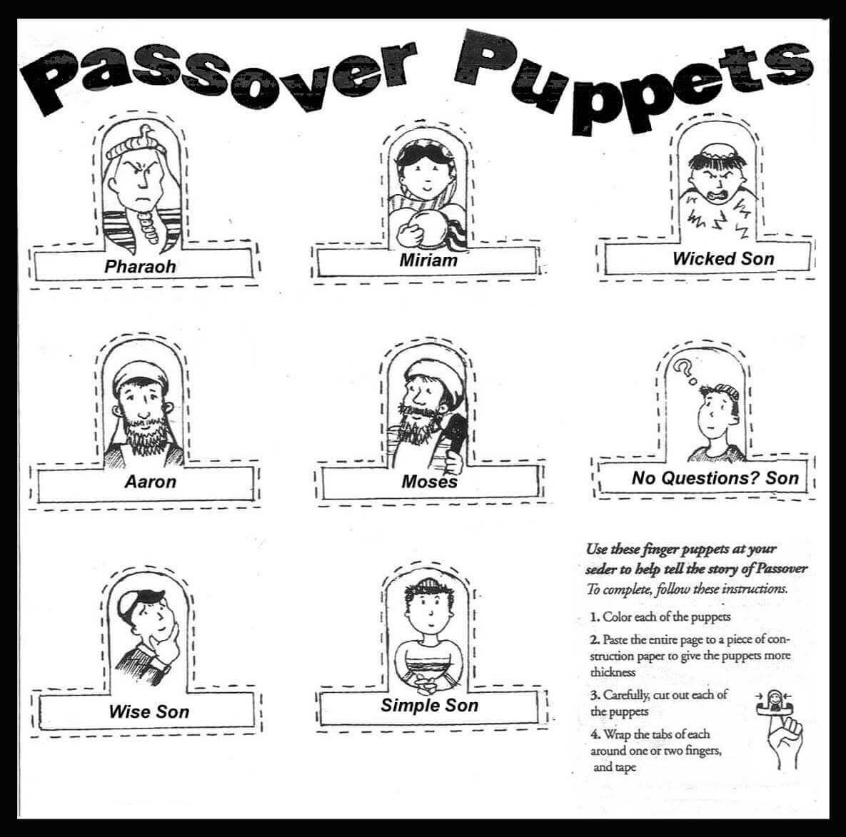 Free Printable Passover Coloring Pages Scribblefun