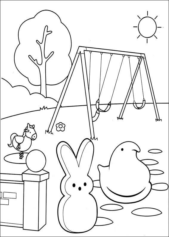 free printable peeps coloring pages