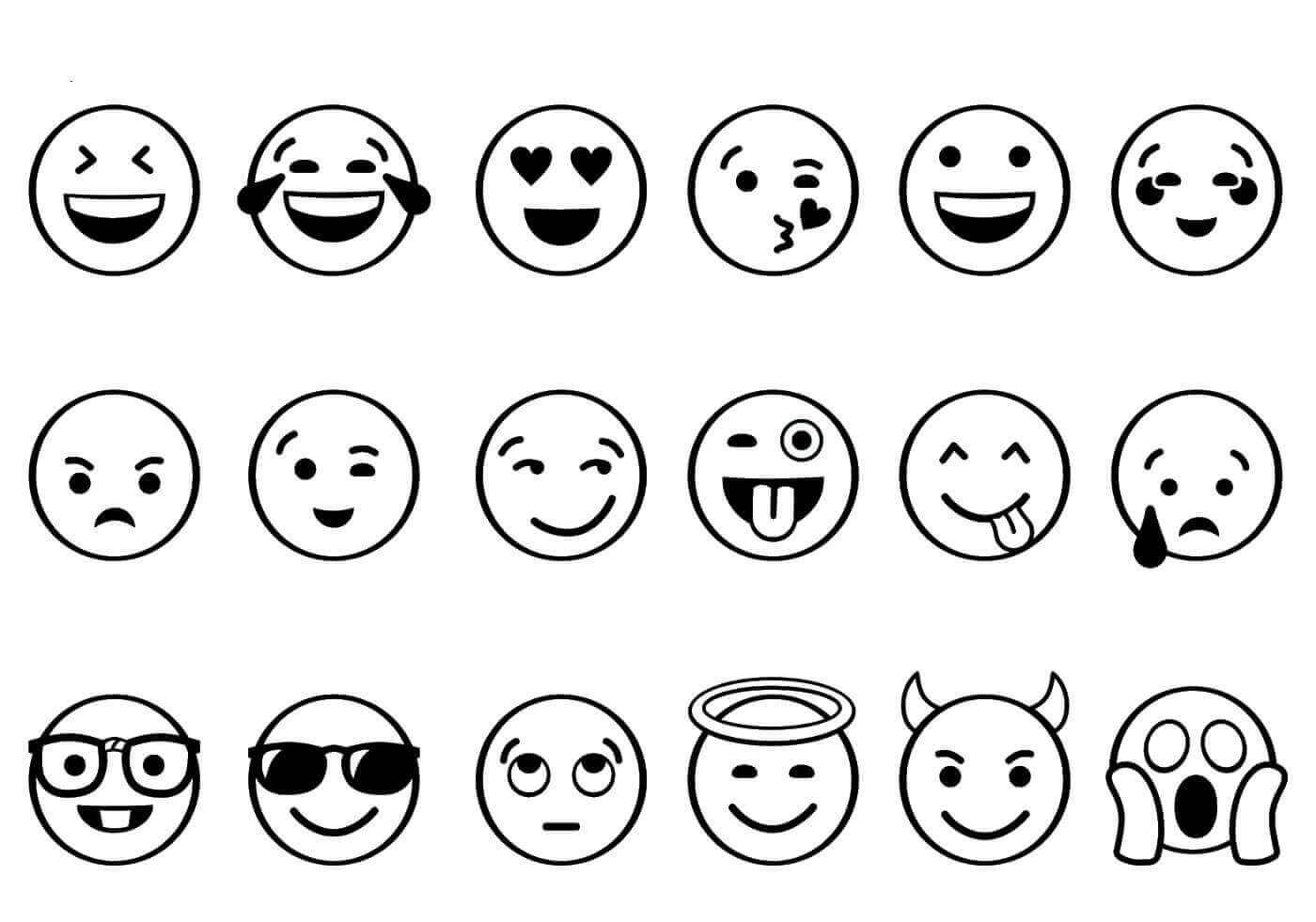Free Printable Emoji Coloring Pages Scribblefun