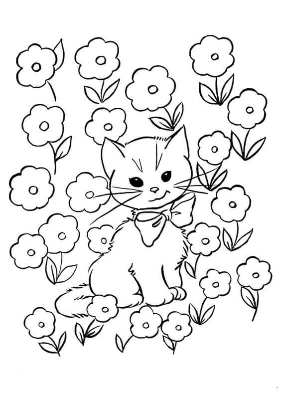30 Free Printable Kitten Coloring Pages (Kitty Coloring