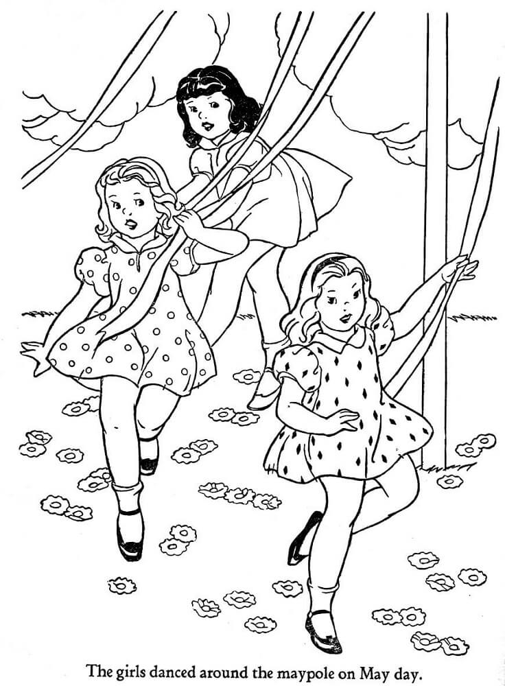 Free Printable May Coloring Pages