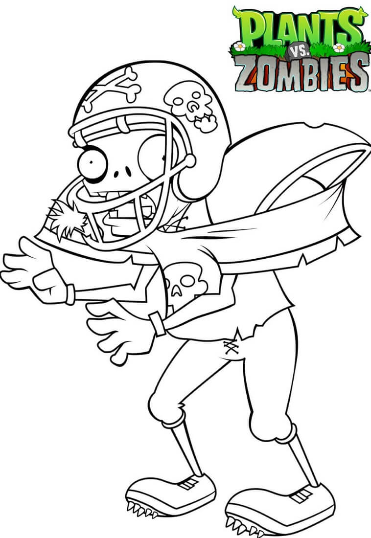 Zombie Coloring Pages Online. Plants Vs Zombies Coloring