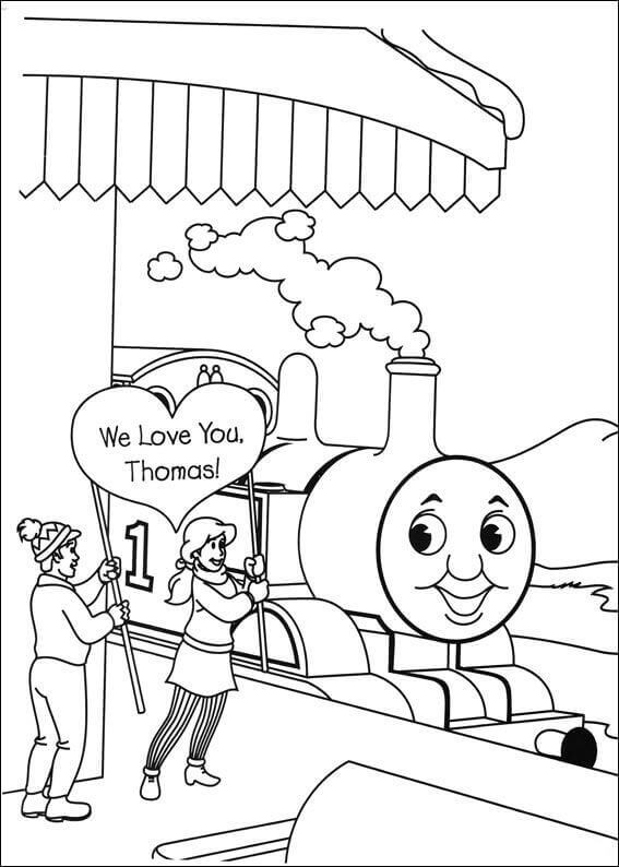 Simple Thomas The Train Coloring Pages