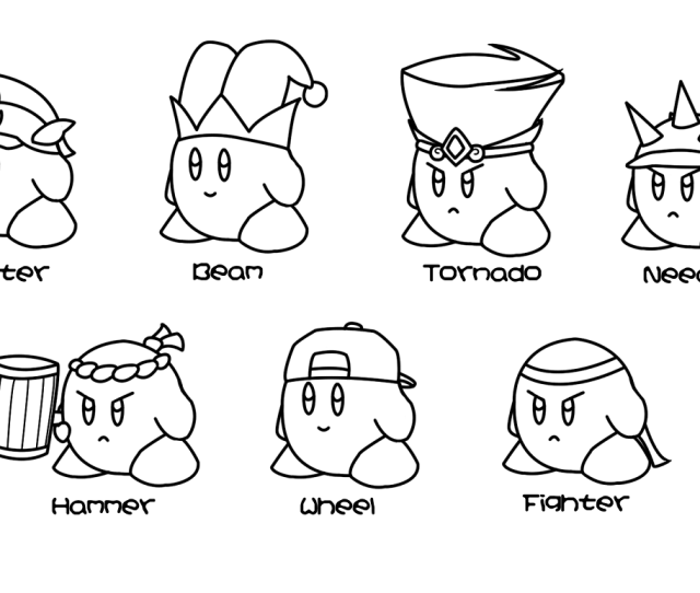 Free Printable Kirby Coloring Pages