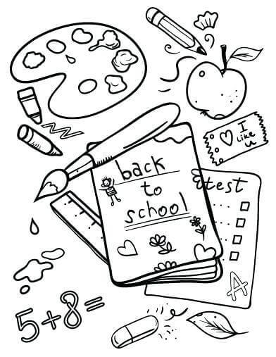 35 Free Printable Back To School Coloring Pages