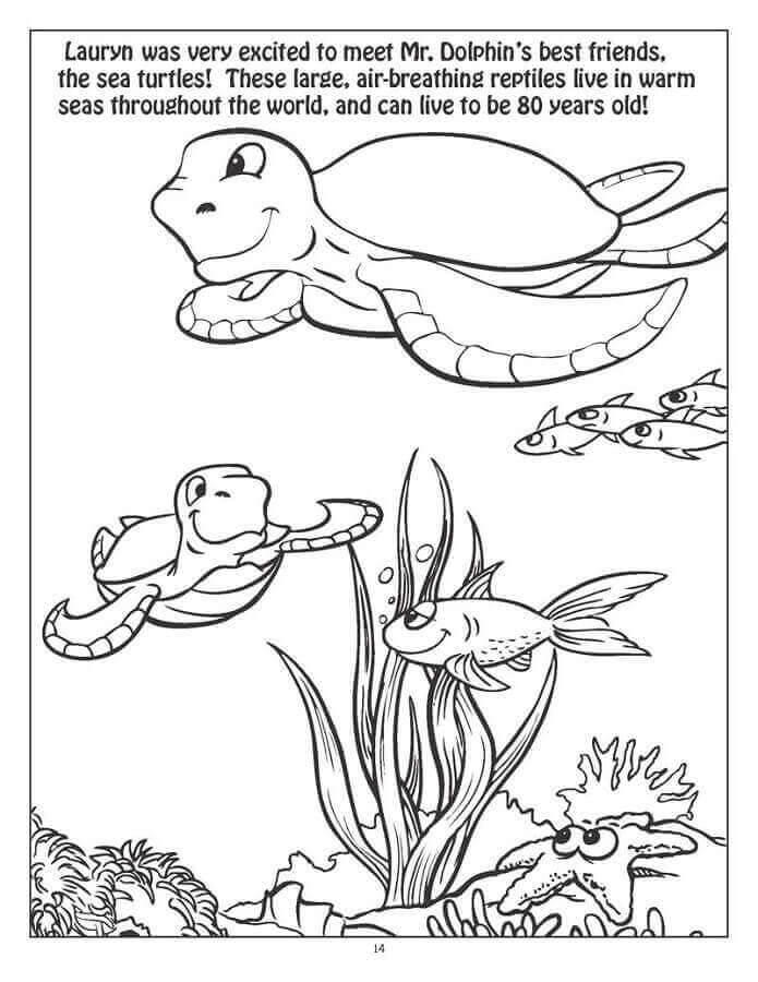 Free Printable Ocean Coloring Pages (Under The Sea)