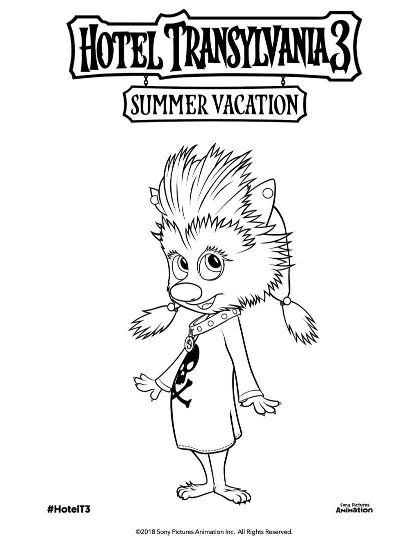free printable hotel transylvania 3 coloring pages
