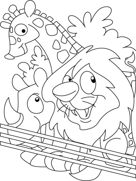 Free Printable Zoo Coloring Pages For Kids | printable coloring zoo animals
