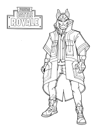 Coloring Pages Fortnite Scar