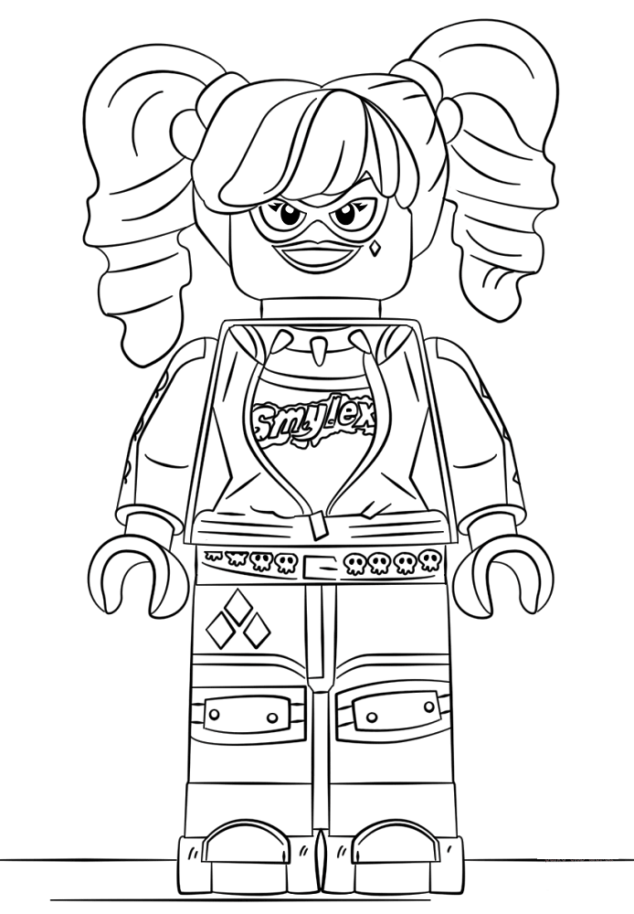 20 Free Printable Harley Quinn Coloring Pages