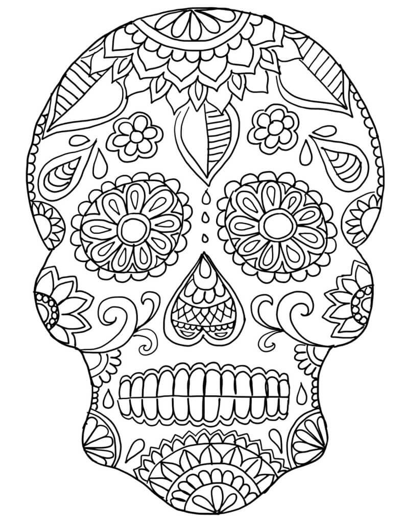 30 Free Printable Sugar Skull Coloring Pages