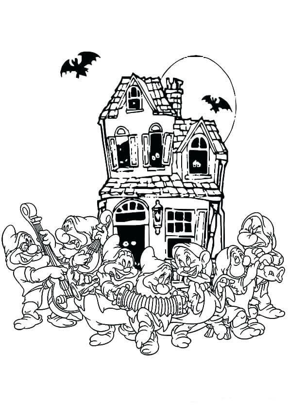 Disney Halloween Coloring Pages Free Printable